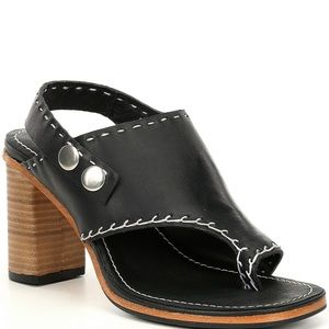 Free People Marlowe Leather Stitched Heel